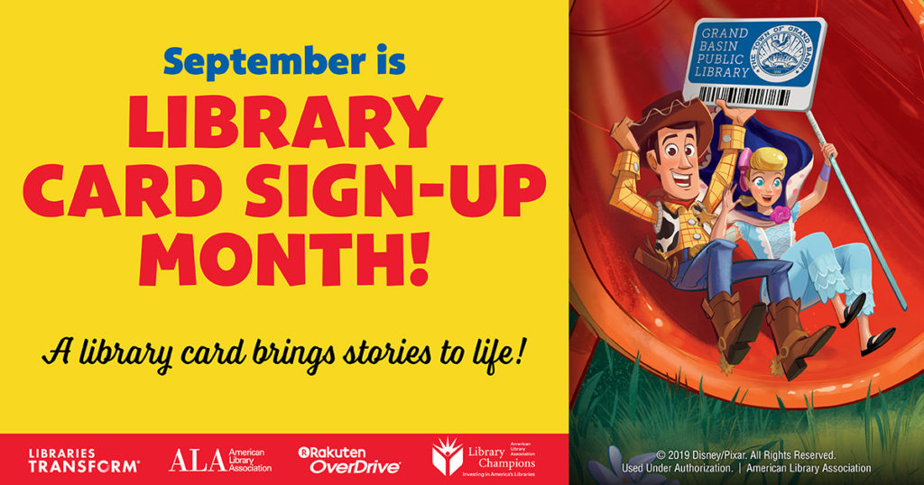 Kindergarten Library Card Sign-Up Day: September 28th
