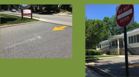 One-Way Traffic Flow Now in Library Parking Lot
