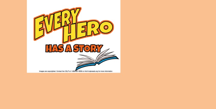 Bookmark: Every Hero Has a Story This Summer at the Library