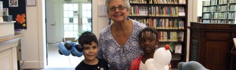 "September 2014 Bookmark: Kindergarten ""K-Day,"" An Author Talk, A Book Battle, Novel Night: It's All Part of Fall at the Library!"