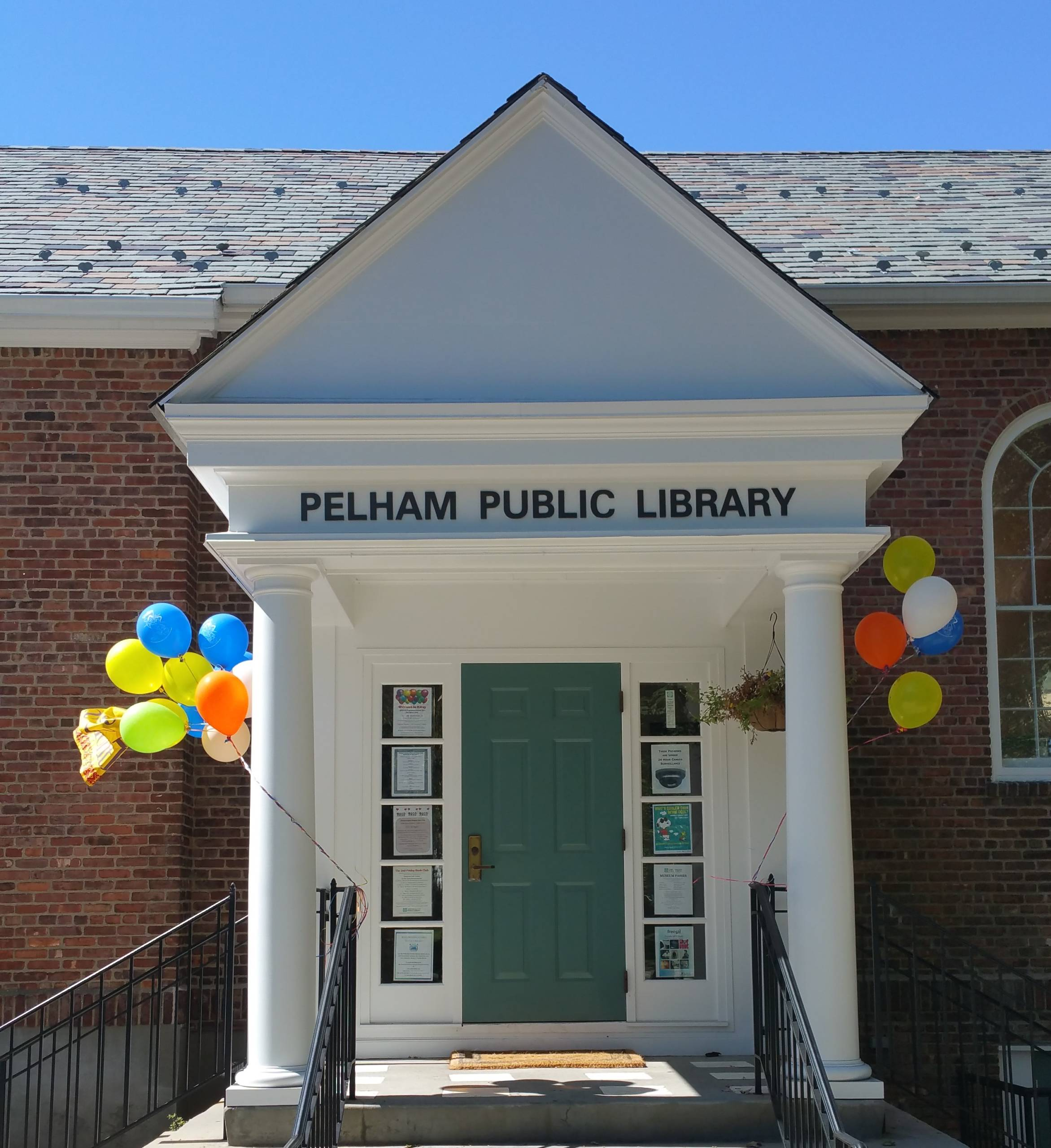 library with balloons
